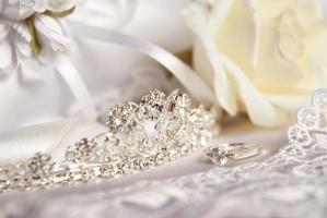 Wedding tiara (diadem) and bridal accessories