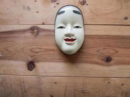 Traditional japanese theater masks photo