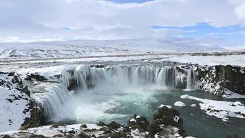 Cachoeira Godafoss na Islândia