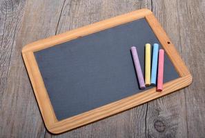 slate with chalks