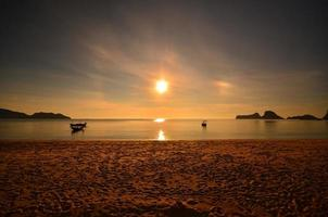 Beach and Boats at Sunrise Scenics