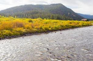 Fall on the Gallatin River. photo