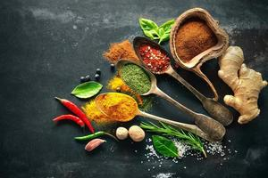 Various herbs and spices photo
