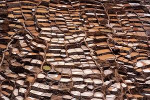 Salt evaporation ponds in Maras in Peru