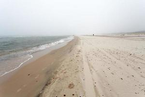 Foggy day at the seaside photo
