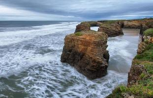Beach of the Cathedrals in Ribadeo, Spain photo