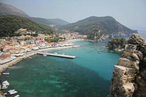 View at Parga from above photo