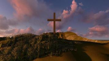 cruzar en una colina foto