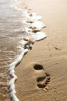 huella en la arena