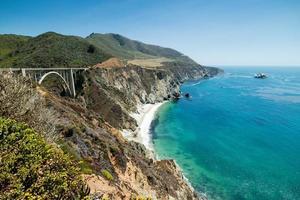 Brixby Bridge Summer day, Pacific Coast Highway Route 1, California photo