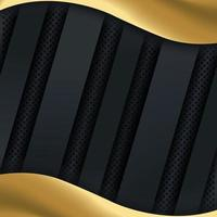 Gold Wave on Dark Realistic Effect Background