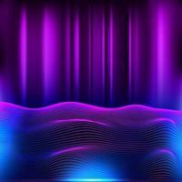 Retro Futuristic Neon retro background vector