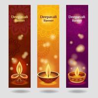 Deepavali Festival Web Banner Collection vector