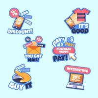 Sticker Pack of Cyber Monday Shopping