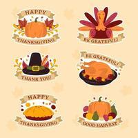 Festive Thanksgiving Sticker Set vector
