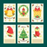 Jolly Christmas Cards and Greetings Collection vector