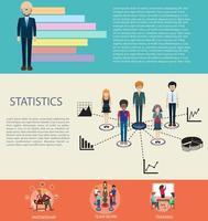 diseño infográfico empresarial con elementos.