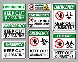 Keep Out Quarantine Sign