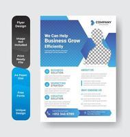 Corporate Business flyer vector