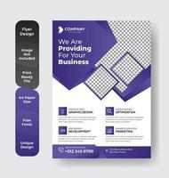 folleto púrpura a4 vector