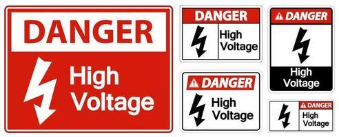 peligro alto voltaje vector
