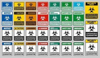 Coronavirus Quarantine Sign  vector