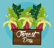 Wild flowers for Forest Day celebration vector