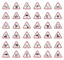 Warning Hazard Symbols  vector
