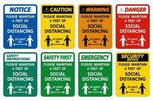 Maintain Social Distancing Sign