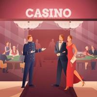 composición de personas planas degradado de casino