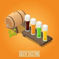 cervezas de cervecería isométrica
