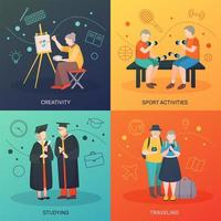 Modern aged people vector