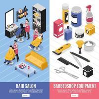 Barbershop vertical banners vector