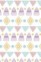 Ethnic handmade. Tribal shapes and flower ornament background