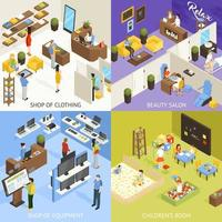 Shopping Mall Set vector