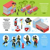 Firefighter horizontal banners