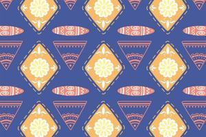 Ethnic handmade. Floral and tribal folklore background vector