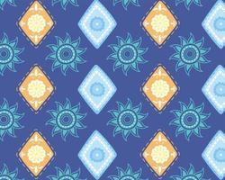 Ethnic handmade. Flower texture fashion background vector
