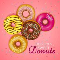 Sweet donuts poster vector