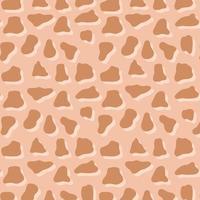 patrón de impresión de piel de animal. manchas de sombras irregulares marrones