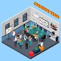 Co-working center isometric