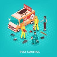 Pest control isometric vector