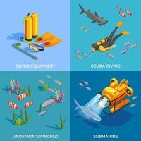 Scuba diving snorkeling vector