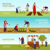 Gardening horizontal banners