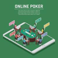 Online Poker casino isometric vector