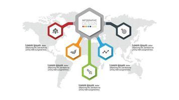 Modern infographic template for banner presentation vector