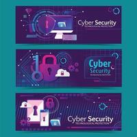banner web futurista del día de la seguridad cibernética vector