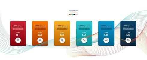 Modern 6-step infographics presentation