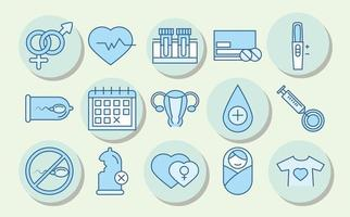 Sexual health. Medical prevention awareness icons