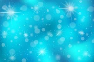 Blue Bokeh Sky Background vector